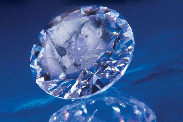 葬礼钻石 - 处于爱心的纪念礼物
